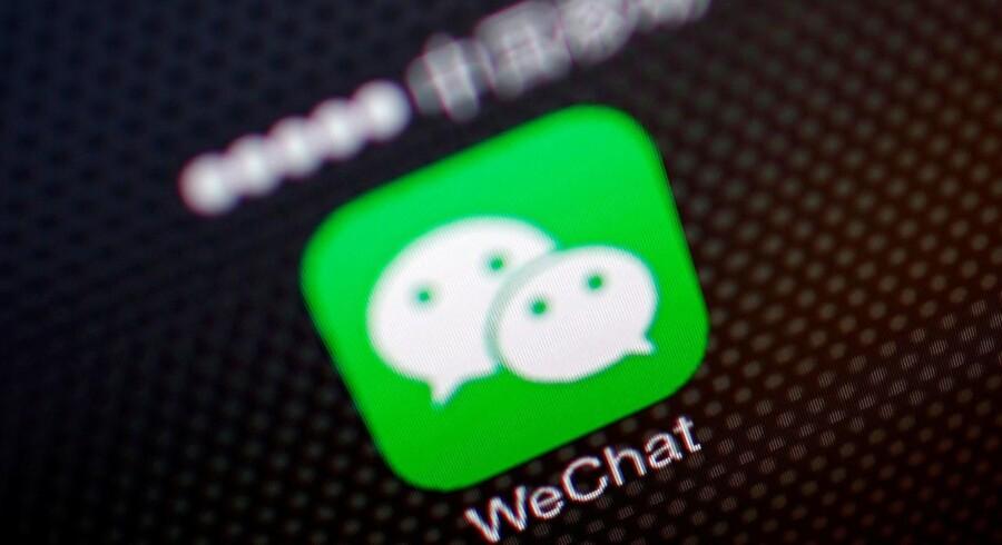 Der er nu over en milliard konti på WeChat. Arkivfoto: Petar Kujundzic, Reuters/Scanpix