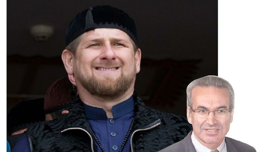 Den brutale Ramzan Kadyrov, guvernør i Tjetjenien, er en central politisk figur med tætte bånd til Putin og inderkredsen i Kreml.Foto: Menahem Kahana
