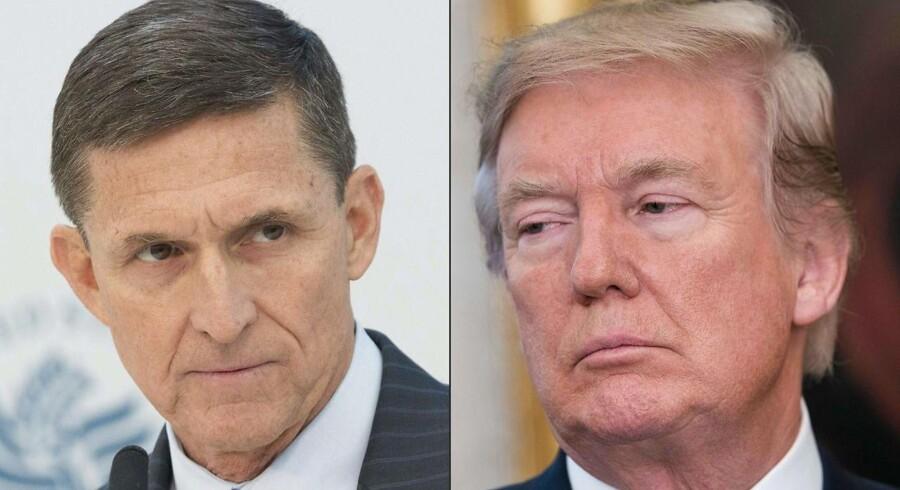 Michael Flynn var national sikkerhedsrådgiver i Det Hvide Hus, men blev fyret, efter at det kom frem, at han ikke havde været ærlig omkring en række møder med en russisk diplomat.