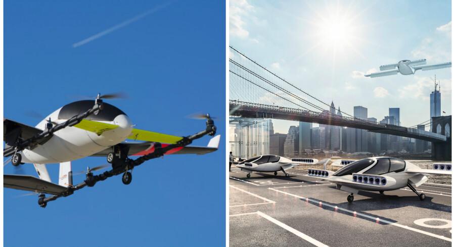 Boeing har købt Aurora, som arbejder på flyvende taxier. Det samme gør tyske Lilium, som Skype-medstifter Niklas Zennström har skudt penge i. Fotos: Aurora og Lilium