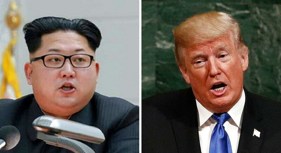 Topmødet er slut inden det kom igang. Her er de to personer, der skulle have mødtes - Nordkoreas leder, Kim Jong-un og USAs præsident Donald Trump. EPA/KCNA / JUSTIN LANE EDITORIAL USE ONLY *** Local Caption *** 53783236