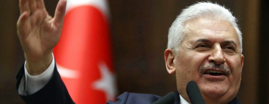 Tyrkiets premiereminister Binali Yildirim.