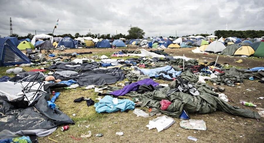 Søndag den 2. juli var Roskilde Festival sidste dag, hvor festivalgæsterne pakkede sammen og rejste hjem. Men meget af deres udstyr, ca. 1000 tons, fik lov til at blive liggende.