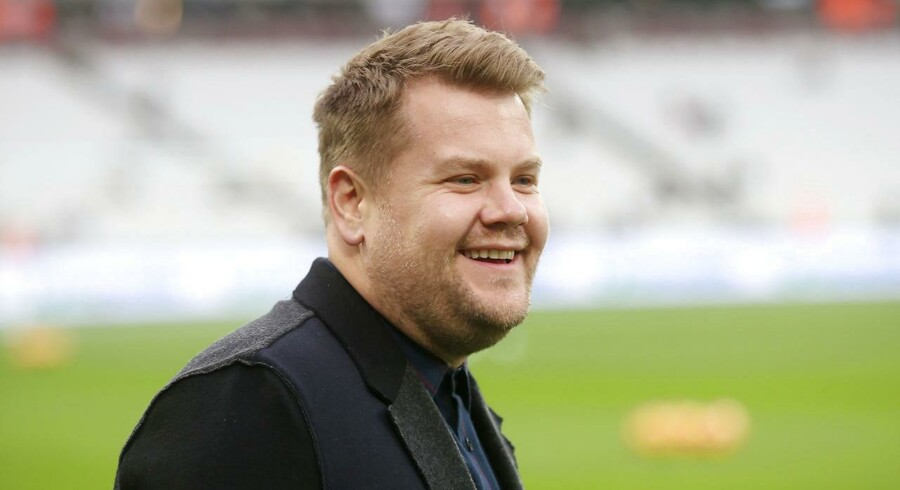 Komiker James Corden på London Stadium den 17. december 2016.