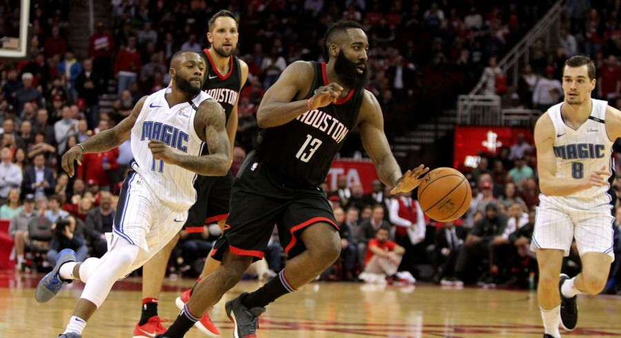 James Harden var ustoppelig, da Houston Rockets slog Orlando Magic tirsdag aften. Scanpix/Erik Williams