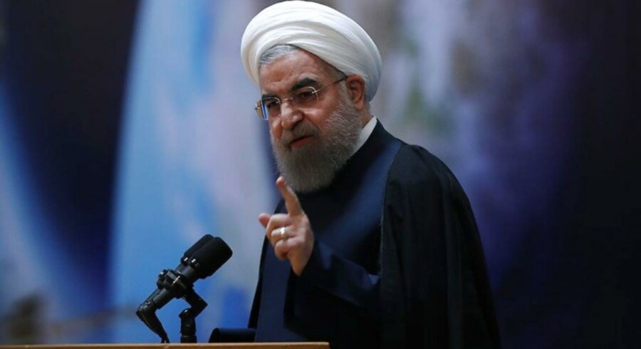 Trump ser spørgelser, mener Irans præsident Hassan Rouhani.