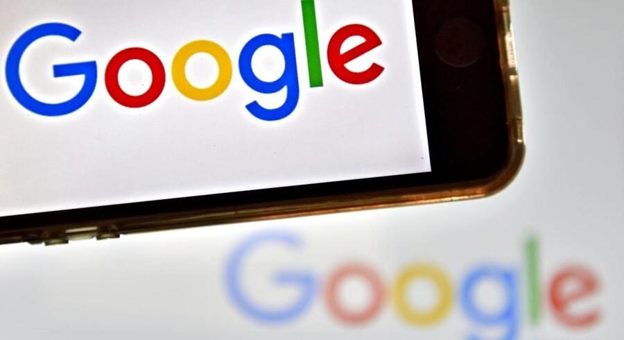 Internetgiganten Google betalte i 2016 lige under fire millioner kroner i skat i Danmark. Arkivfoto: Loic Venance, AFP/Scanpix