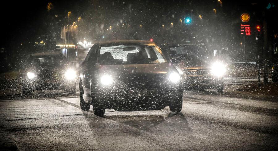 På billedet: Krydset Marselis Boulevard, Skanderborgvej, Åhavevej d. 4. januar 2017.