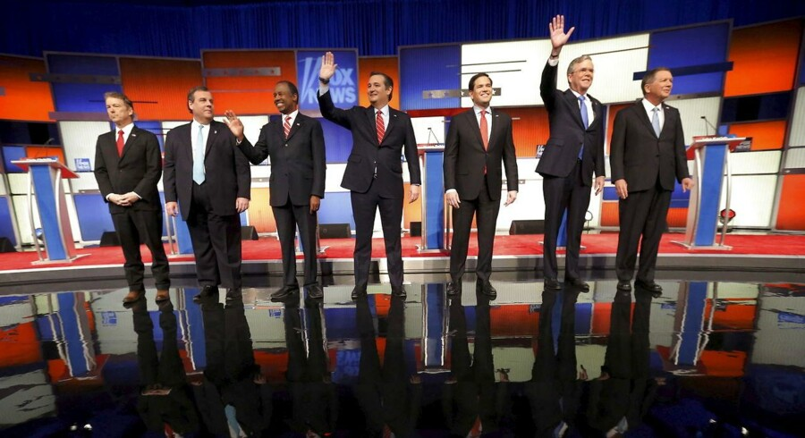 De republikanske kandidater - uden Trump.