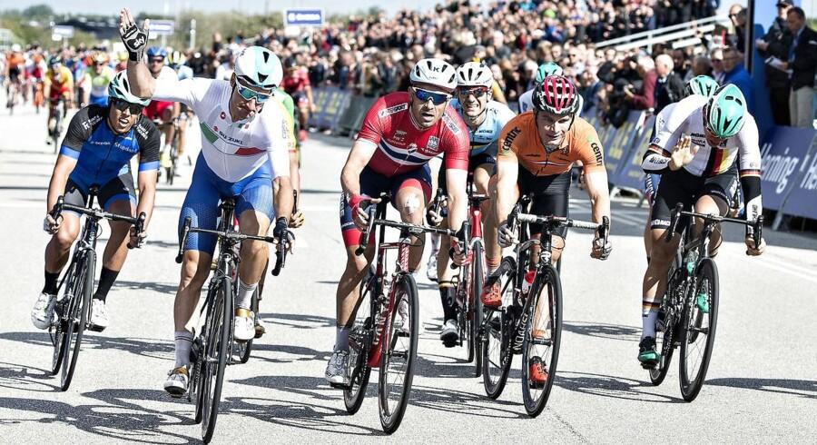 I bestræbelserne på at få Tour de France til Danmark var EM i Herning et skridt på vejen, mener iagttagere. (foto: Henning Bagger / Scanpix 2017)
