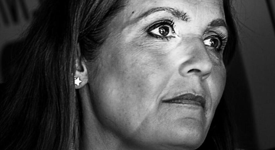 Pia Olsen Dyhr på valgrunde i København under valgkampen i 2015.
