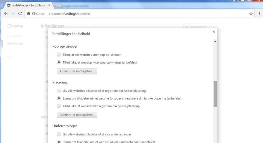 Man kan selv i Googles internetbrowser Chrome forbyde, at der åbnes pop-op-vinduer, men Google gør nu klar til at indføre et annoncefilter, som helt fjerner annoncerne, der irriterer brugerne - f.eks. ved at åbne pop-op-vinduer eller afspille videoklip, uden at man har bedt om det.