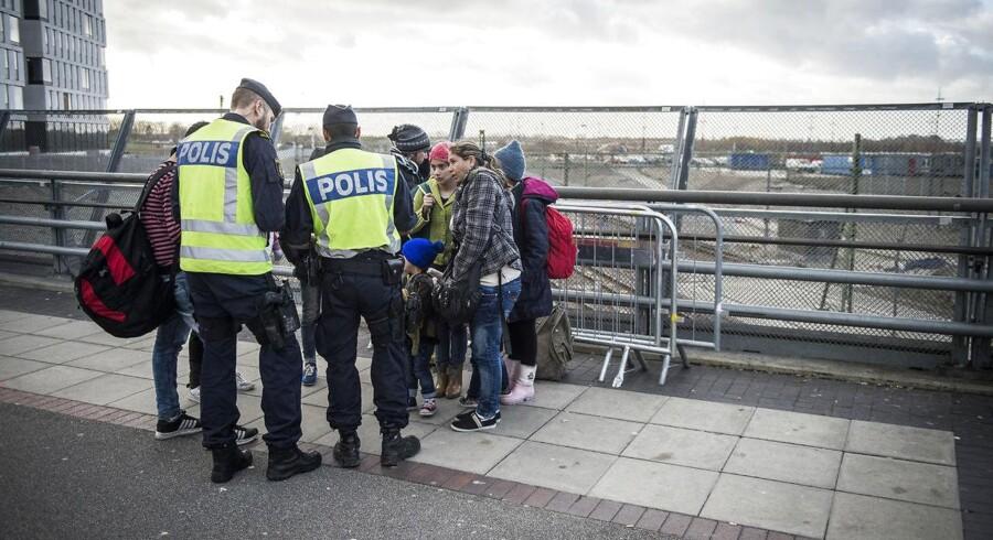 Hver tredje flygtning, der skal sendes tilbage over sundet fra Danmark, 63 helt præcist, er blevet væk for de svenske myndigheder. (Arkivfoto: Asger Ladefoged/Scanpix 2016)