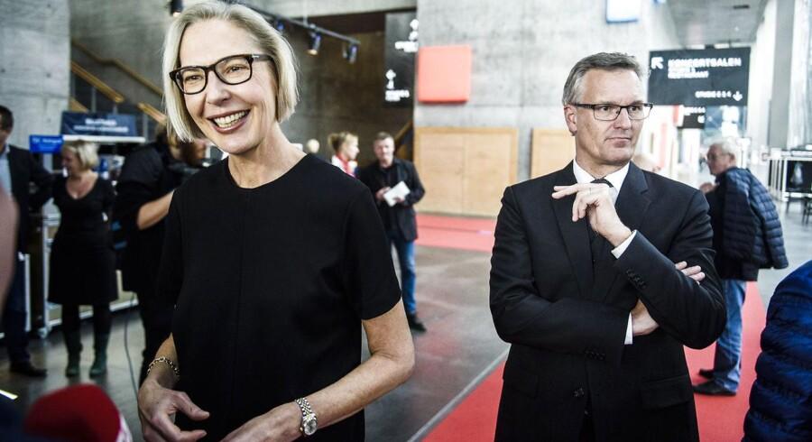 Her er det generaldirektør for DR Maria Rørbye Rønn og nyhedschef Ulrik Haagerup. (Foto: Simon Læssøe/Scanpix 2015)
