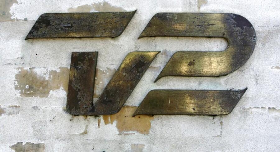 TV2's logo.