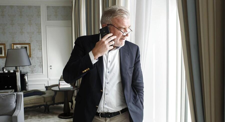 Finansmanden Lars Seier Christensen i hans faste suite på Hotel D' Angleterre. Lars Seier var glad for, at Trump vandt det amerikanske præsidentvalg og er stadig tilfreds er år efter.