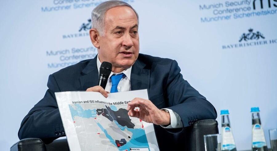 Israels premierminister, Benjamin Netanyahu, sagde på en international sikkerhedskonference i den sydtyske by München søndag, at landet er klar til at angribe Iran og ikke blot landets allierede.