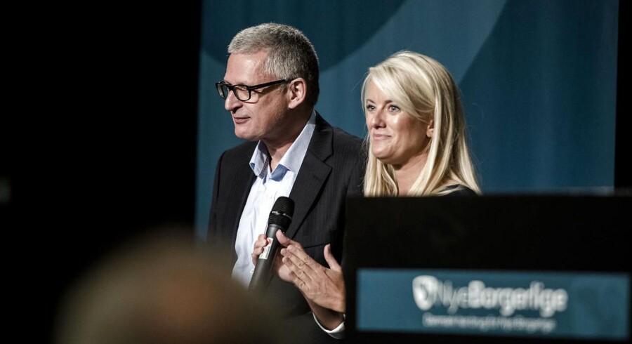 Nye Borgerlige holder årsmøde i Vejle lørdag d. 14. oktober 2017 Pernille Vermund og Flemming Rose. (Foto: Michael Drost-Hansen/Scanpix 2017)