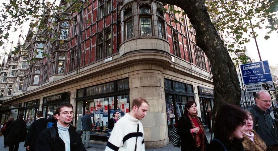 Den kendte boghandlerkæde Waterstones vil ikke længere sælge e-bøger fra sine forretninger i Storbritannien, her i London. Arkivfoto: Martin Toft, Scanpix