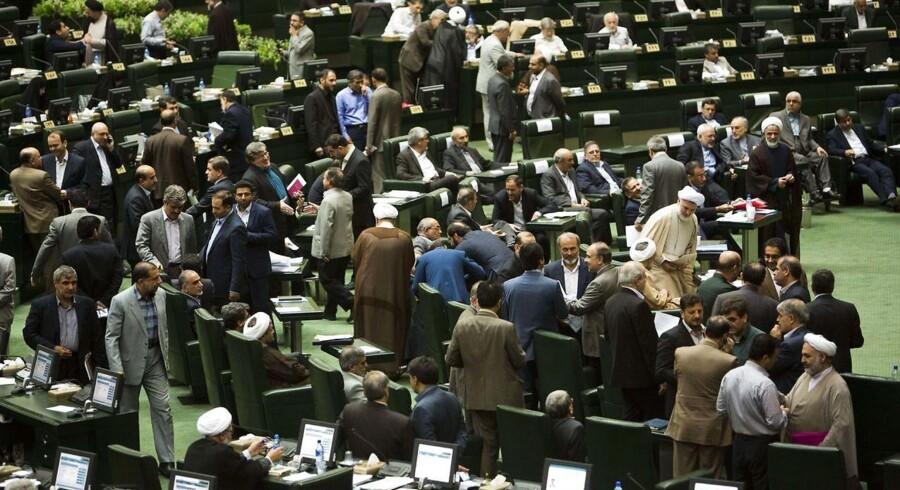 Arkivfoto. Det iranske parlament.