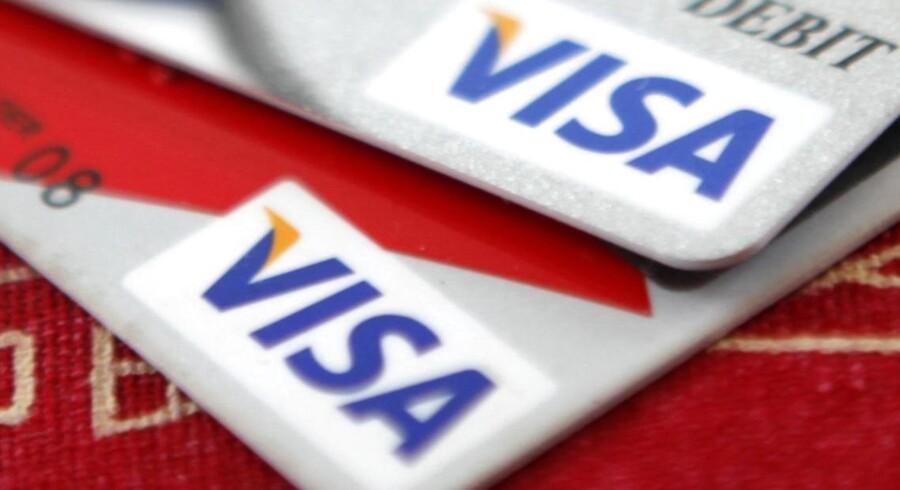 Det amerikanske betalingsselskab Visa fik en tilbagegang i overskuddet på 75 pct.