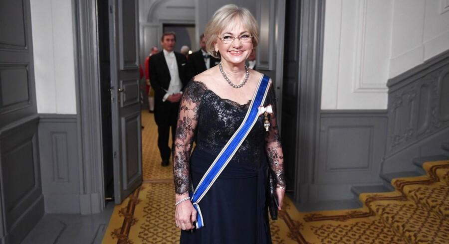 Pia Kjærsgaard i galla i forbindelse med islandsk statsbesøg. Foto: Sisse Stroyer/Scanpix 2017
