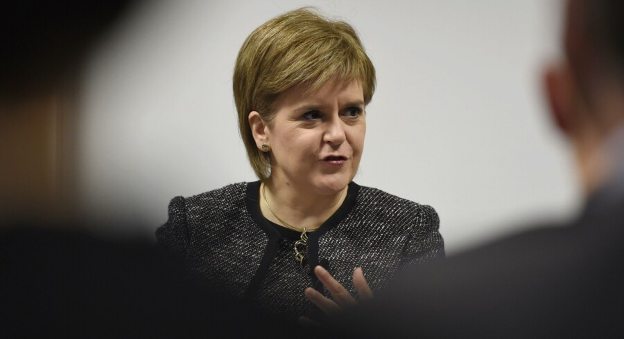 """Skotlands førsteminister, Nicola Sturgeon, kalder den britiske regerings brexit-planer en """"økonomisk katastrofe"""". Reuters/Clodagh Kilcoyne"""