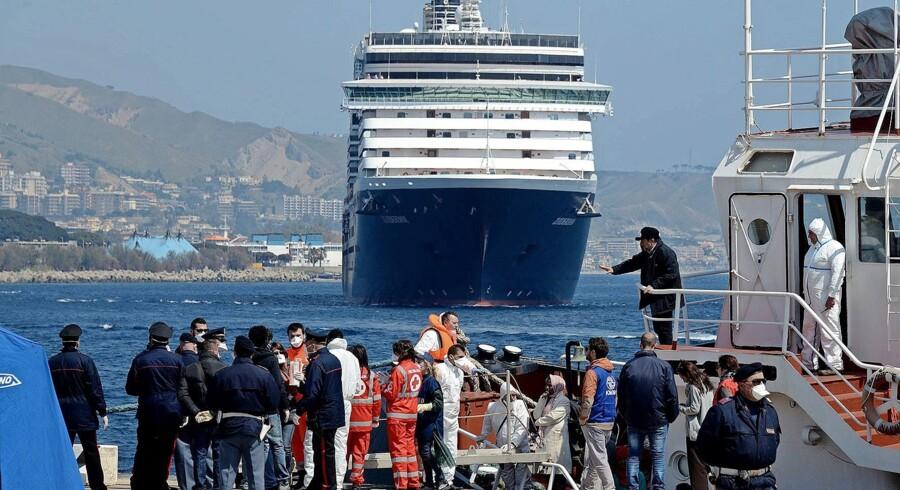 Under G7-topmødet i den sicilianske turistby Taormina vil det være forbudt at lande migranter på Sicilien. Foto: Giovanni Isolino/AFP