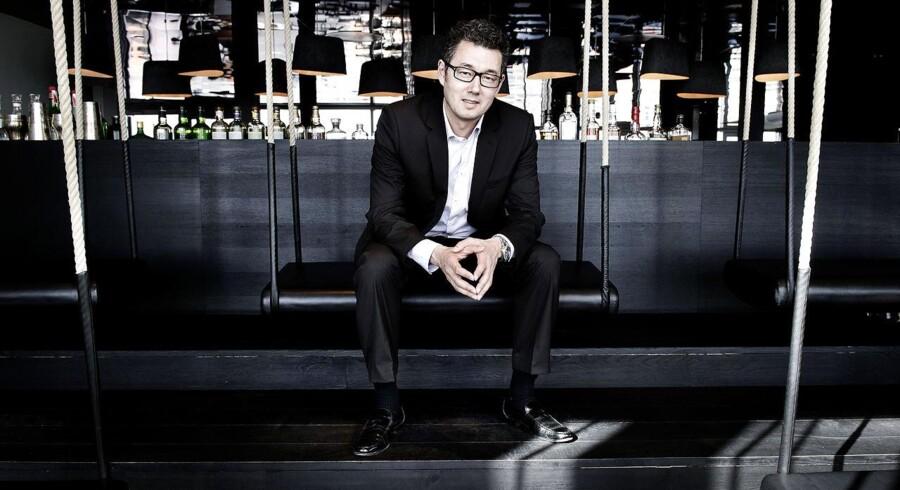 Kim Rahbek Hansen, manden bag virksomheden Sticks'n'sushi. Her fotograferet på Sticks n