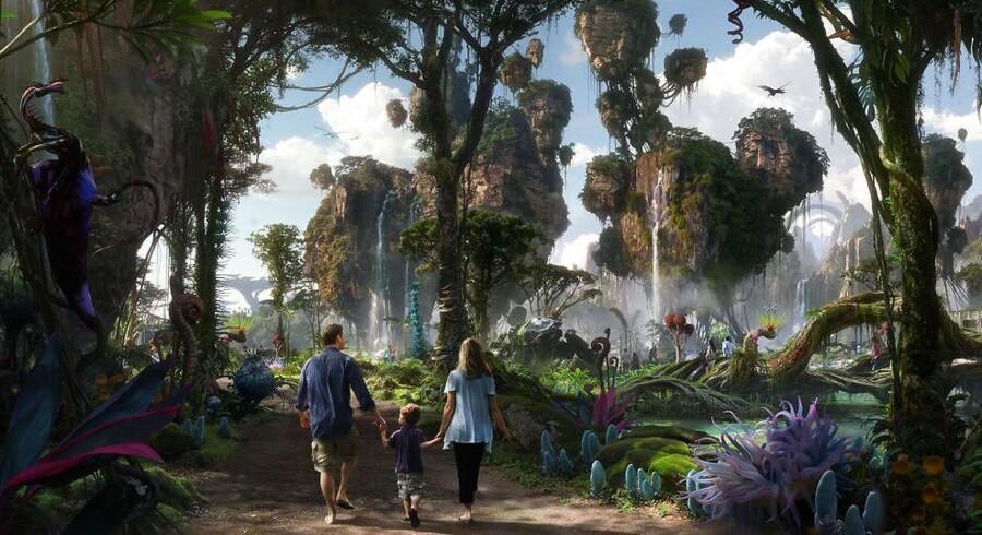 Sådan kommer den nye Avatar-park til at se ud, når det står klar til maj.