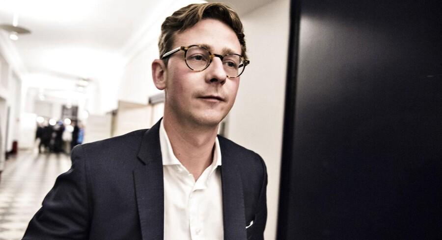 Skatteminister Karsten Lauritzen (V) har i dag offentliggjort en rapport, der viser, at 80 millarder i gæld til det offentlige skal nedskrives. (Foto: Ida Guldbæk Arentsen/Scanpix 2017)