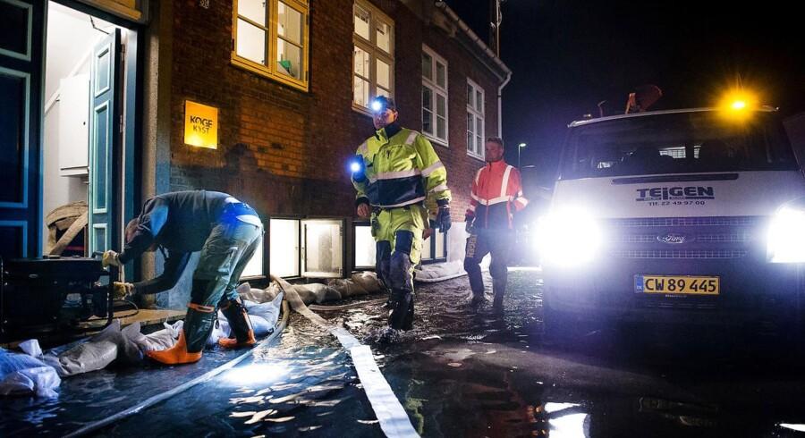 Oversvømmelse på Køge Havn og området omkring åen onsdag den 4. januar 2017.