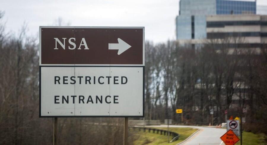 Adgangen til hemmelighederne i den amerikanske efterretningstjeneste NSA (National Security Agency) - her hovedkvartereret i Fort Meade - er tilsyneladende ikke længere så begrænset. Arkivfoto: Jim Lo Scalzo, EPA/Scanpix