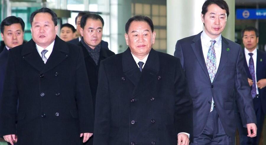Formålet med Kim Yong-Chols besøg er sandsynligvis at tale med personer fra den amerikanske regering om et muligt topmøde mellem den nordkoreanske leder, Kim Jong-un, og USA's præsident, Donald Trump, skriver Reuters. Foto: Afp Photo/Korea Pool.