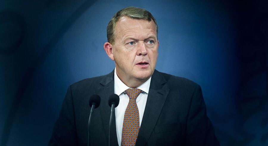 ARKIVFOTO 2016 af Statsminister Lars Løkke Rasmussen (Foto: Ólafur Steinar Gestsson/Scanpix 2016)