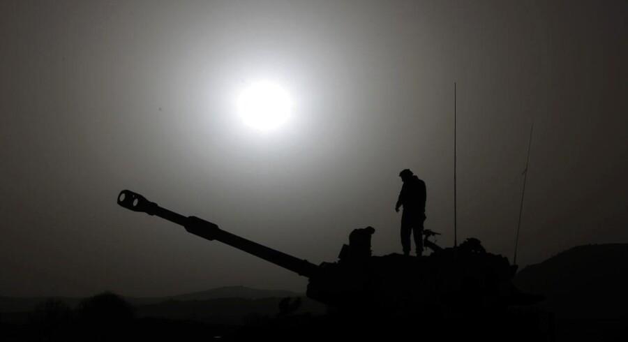 En israelsk soldat i Golanhøjderne. Arkivfoto.