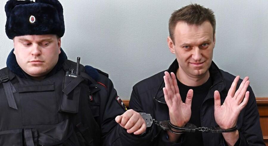 Putin-kritikeren Aleksej Navalnyj blev anholdt efter en demonstration i Moskva i sidste måned. Navalnyj har erklæret, at han vil udfordrer Vladimir Putin ved det kommende præsidentvalg.