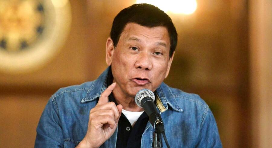 Den filippinske præsident Rodrigo Duterte har blandt andet slået sig op på en forkastelse af lovene om menneskerettigheder. Foto: Ezra Acayan