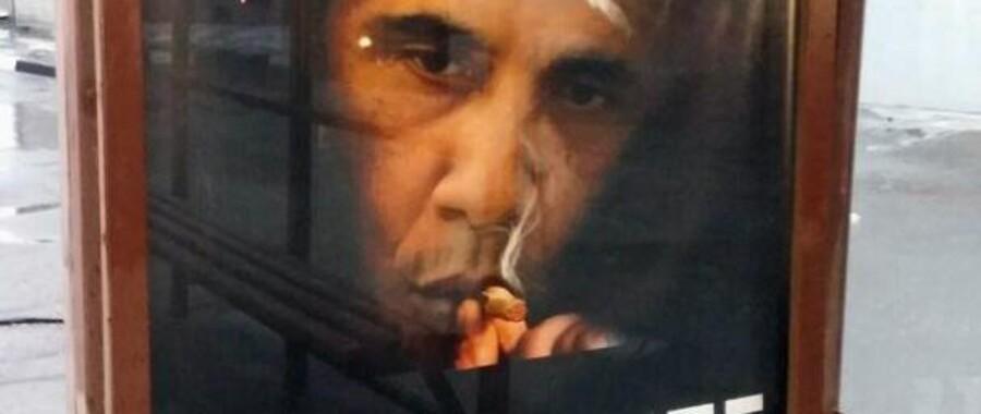 Anti-ryge-plakaten med det manipulerede billede af Barack Obama, som bl.a. er sat op ved busstoppesteder i Moskva, er blot den nyeste i en lang række russiske kampagner, der udråber Obama som morder.