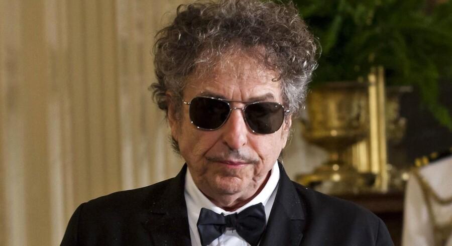 Bob Dylan har skrevet en takketale til lørdagens nobelprisuddeling. EPA/JIM LO SCALZO