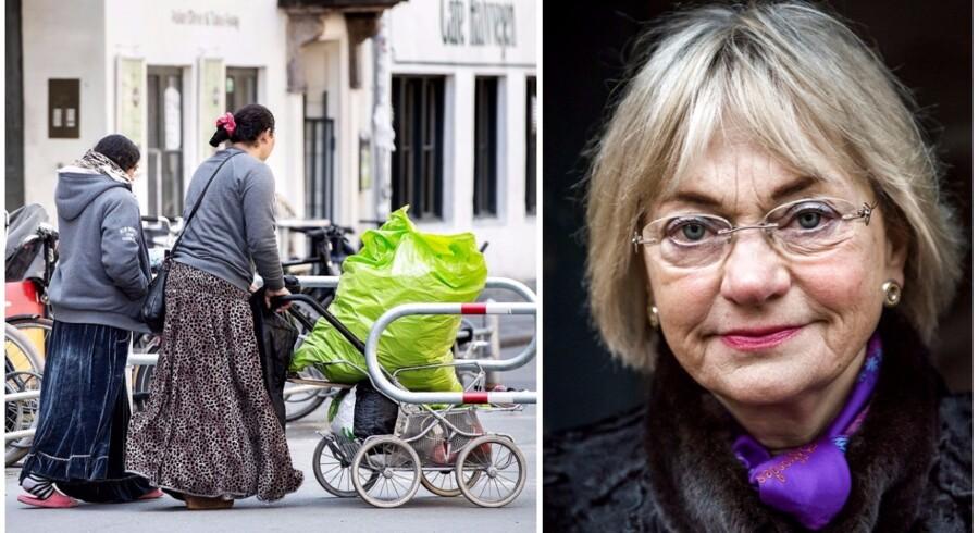 Problemet med romaer er stort i indre København, mener Pia Kjærsgaard.