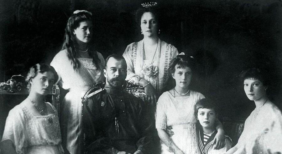 Den tidligere russiske tsar Nicholas II med familie.