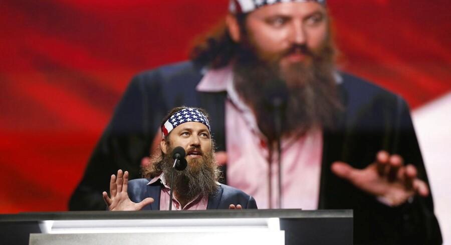 Willie Robertson, en kendt realitystjerne fra tv-programmet »Duck Dynasty«, var blandt talerne mandag aften.