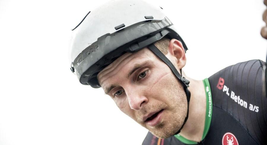 Arkivfoto. Martin Toft Madsen, der vandt DM i enkeltstart, er blevet tildelt den mildeste sanktion efter en positiv test.
