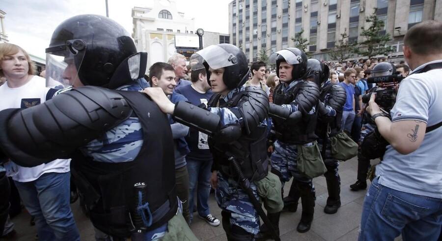 Der ventes op mod 50.000 demonstranter i den russiske hovedstad og demonstrationer og protester i omkring 200 andre byer i Rusland, skriver nyhedsbureauet AP.