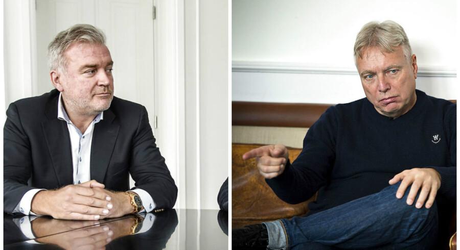 Lars Seier og Uffe Elbæk.