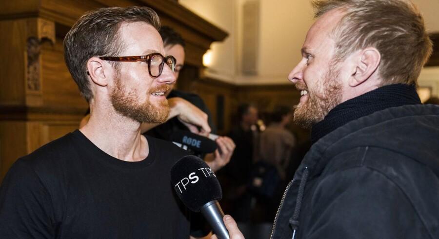 Pressemøde på Københavns Rådhus den 25. oktober 2017. Beskæftigelses- og integrationsborgmester Anna Mee Allerslev holder pressemøde, og Jonathan Spangs spørgsmål har efterfølgende vakt opsigt.