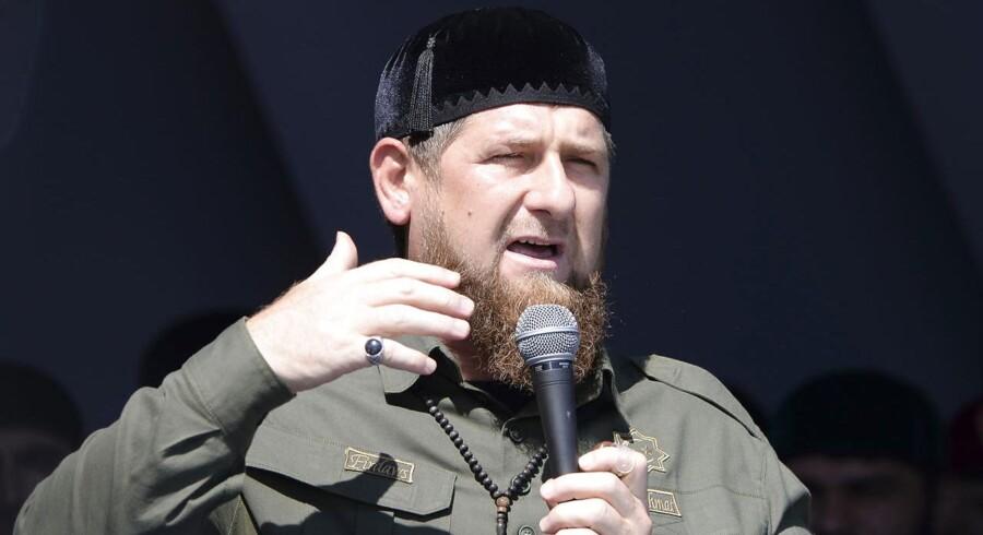 Arkivfoto af Ramzan Kadyrov, Tjetjeniens leder.