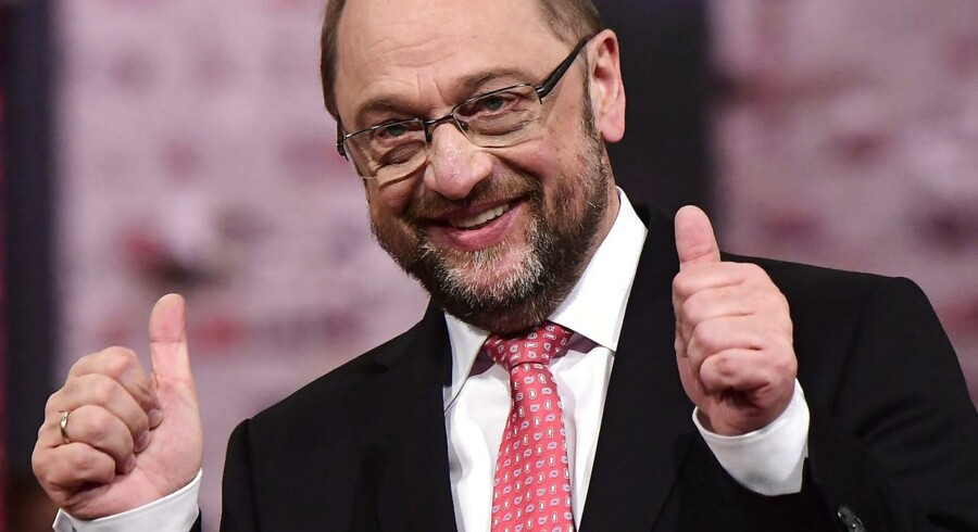 Arkivfoto. Martin Schulz enstemmigt valgt som tysk SPD-leder