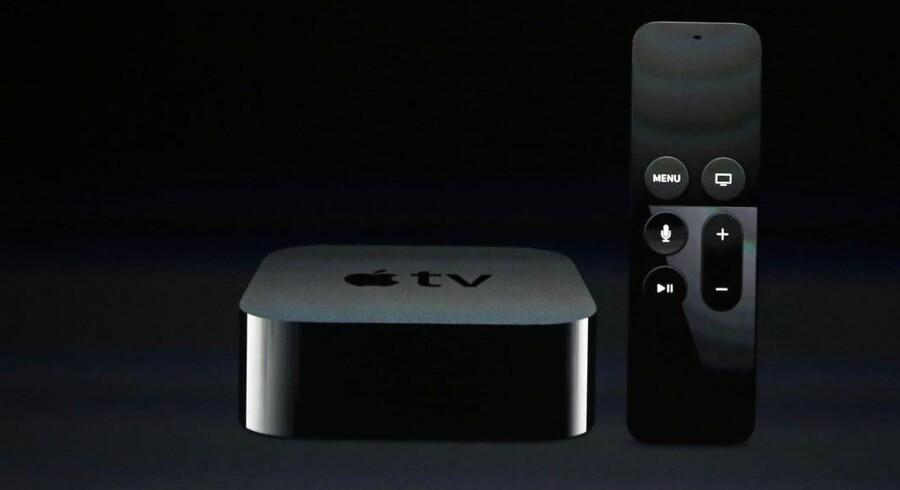 Apples TV-boks, Apple TV (som den ser ud nu), er på vej i en opdateret udgave, som kan håndtere de nye og datatungere film og TV i ultra-HD-kvalitet. Arkivfoto: Beck Diefenbach, Reuters/Scanpix
